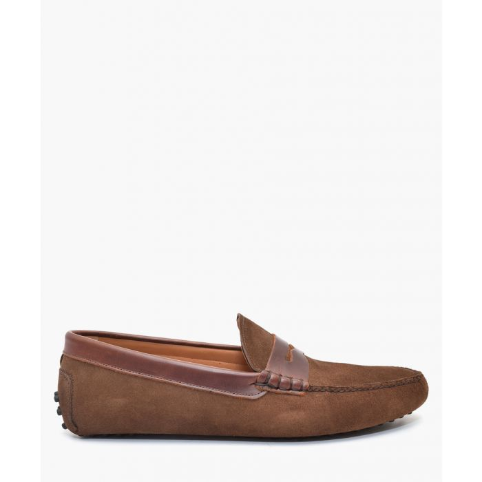 Image for Light brown suede loafers
