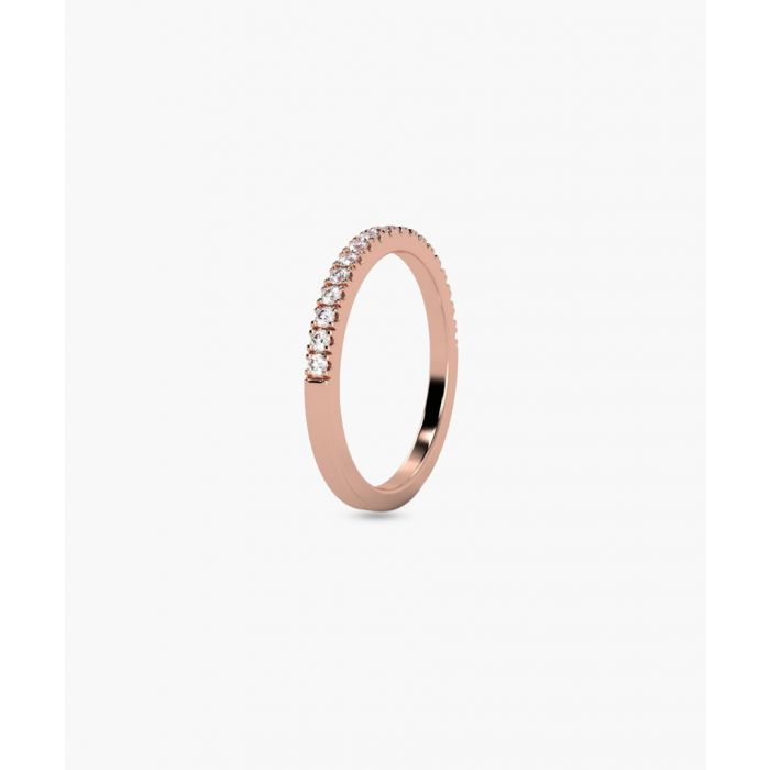 Image for 9k rose gold half eternity ring