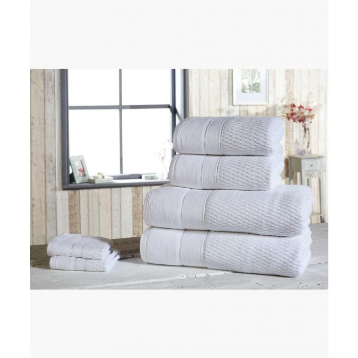 Image for 6pc white cotton towels