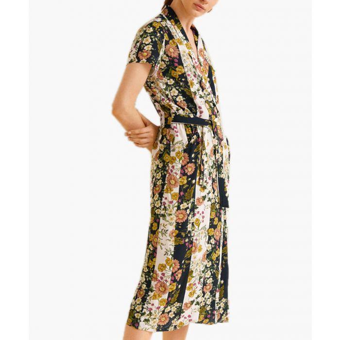 Image for Off-white floral vintage dress