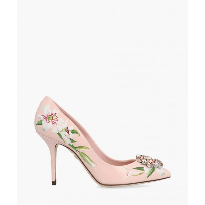 Image for Belluci pink leather lily print pumps