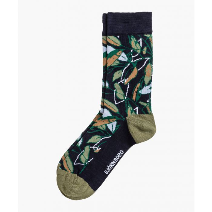 Image for Multi-coloured bamboo-viscose blend NY greenery socks