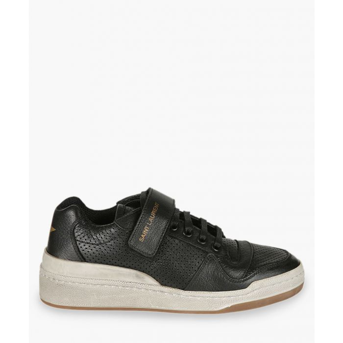 Image for SL24 black leather trainers