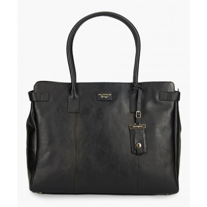 Image for Etichetta Day black leather shopper