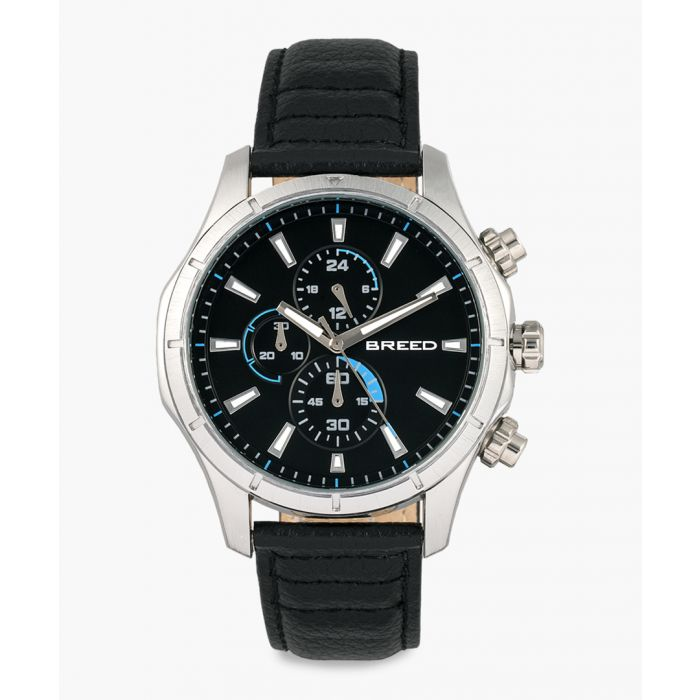 Image for Lacroix leather and stainless steel chronograph watch
