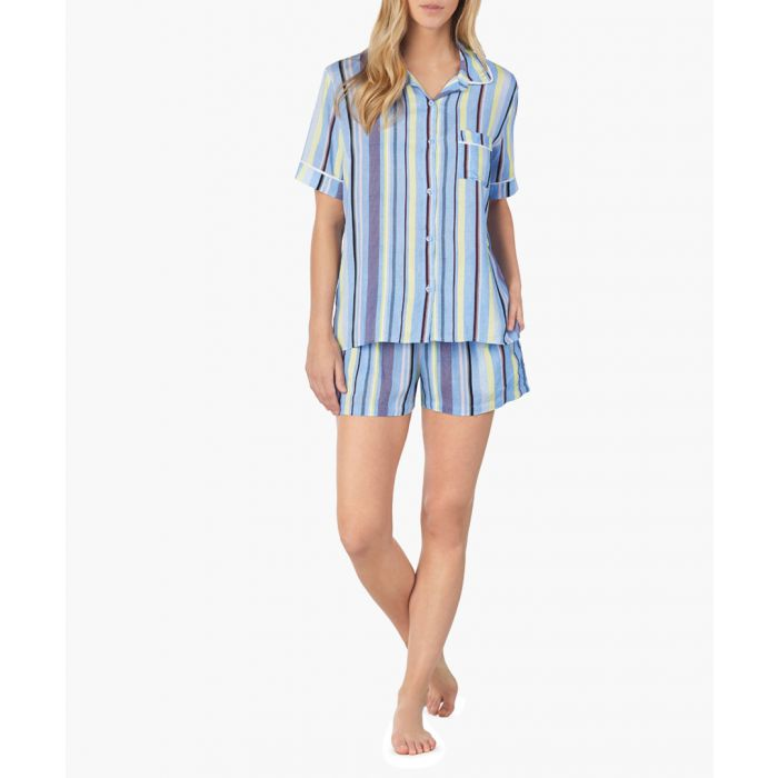 Image for Blue striped pyjama set