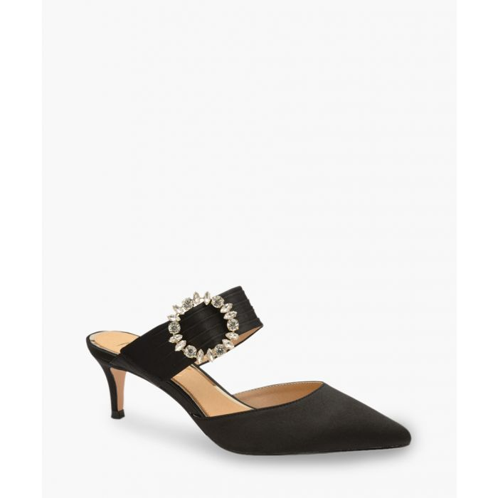 Image for Black embellished mules