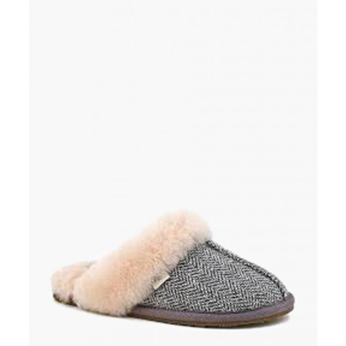 Image for Gracie herringbone shearling slippers