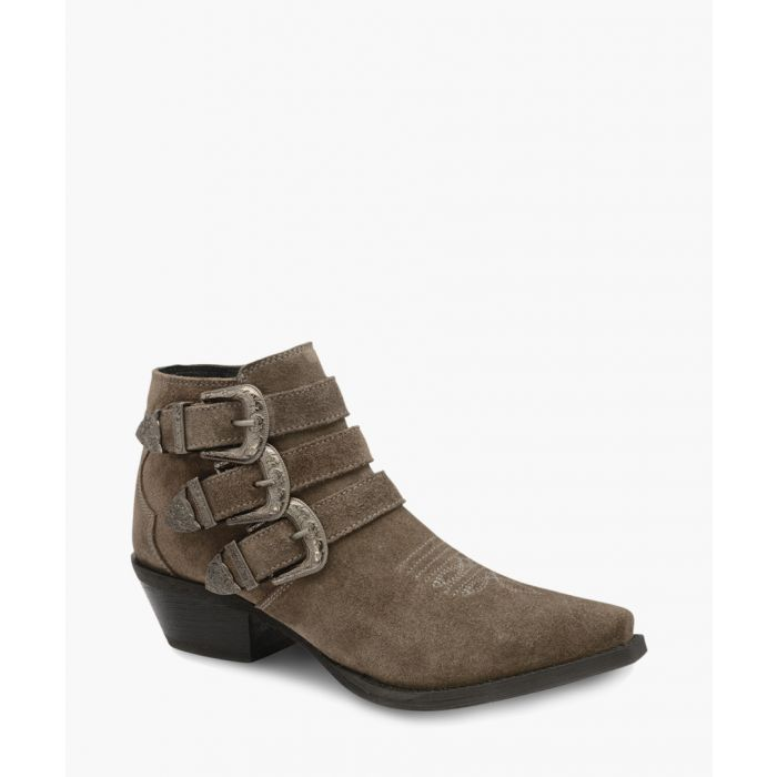 Image for Taupe leather ankle boots