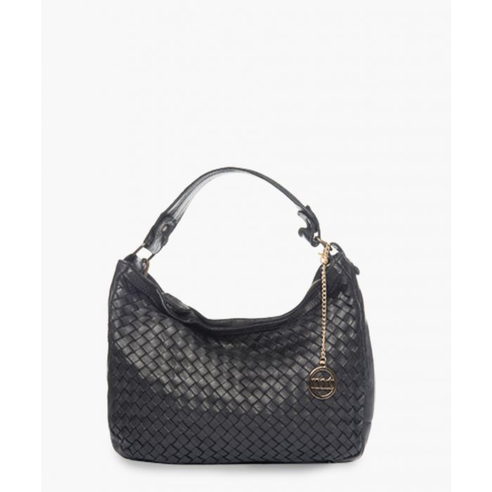 Image for Sirietto black leather shoulder bag