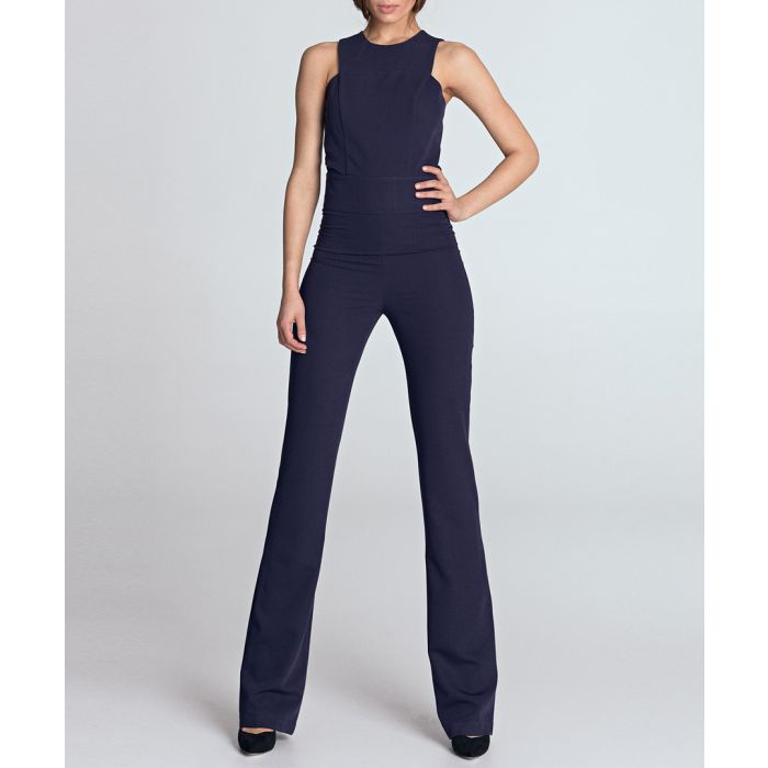 Image for Violet high-neck sleeveless jumpsuit