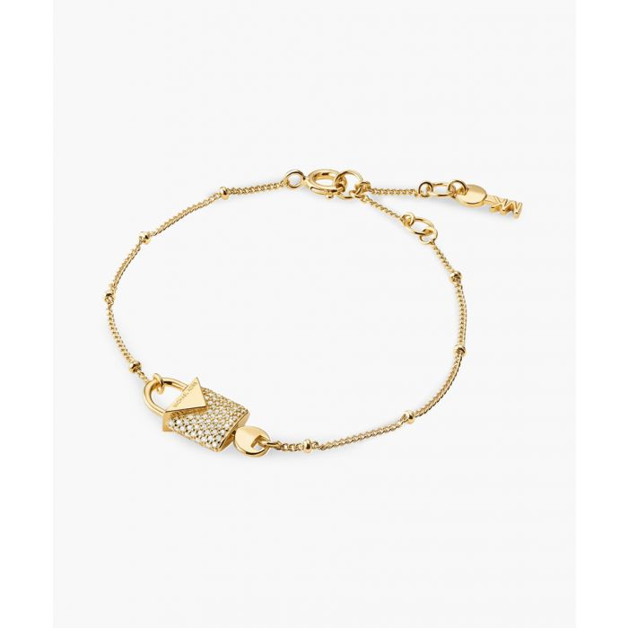 Image for Gold-plated and cubic zirconia bracelet