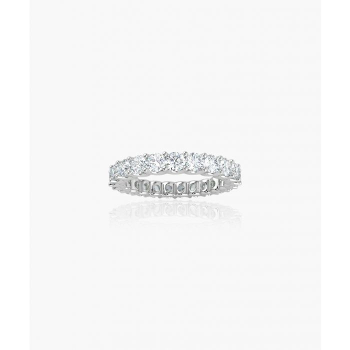 Image for 9k white gold and 1.00ct diamond eternity ring
