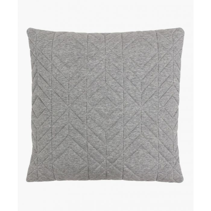Image for Grey patterned cushion