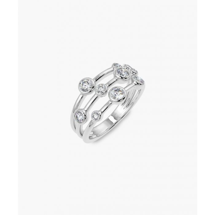 Image for White gold 0.70ct round diamond bubble ring