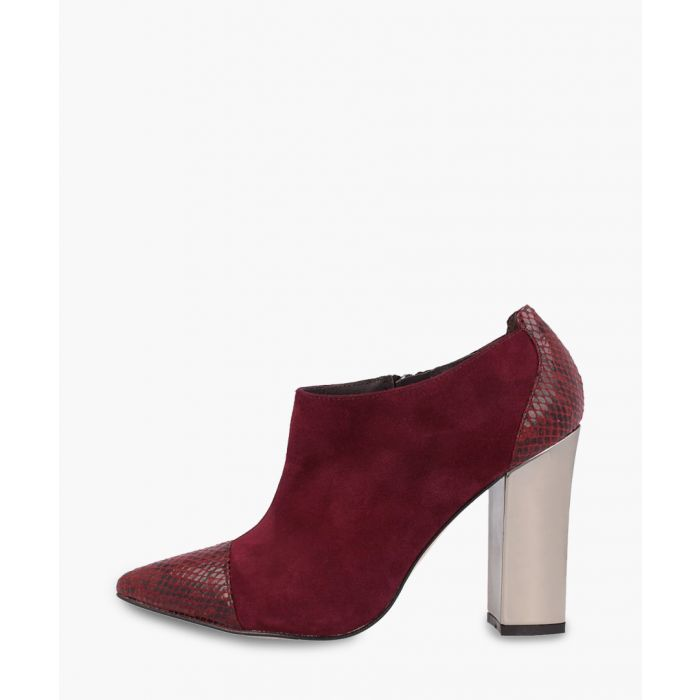 Image for Red leather ankle boots
