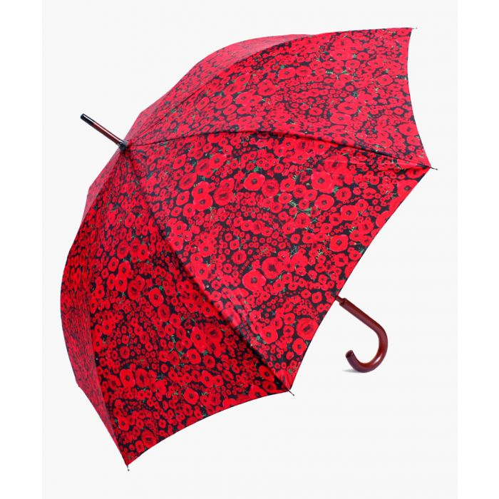 Image for Poppy modern red and black printed umbrella