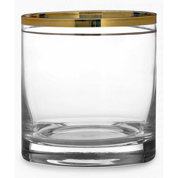 Image for 4pc Charleston gold and silver-tone stripe tumblers