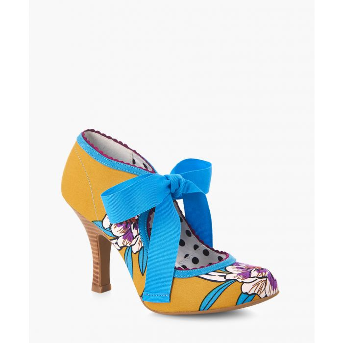 Image for Willow mustard printed heels