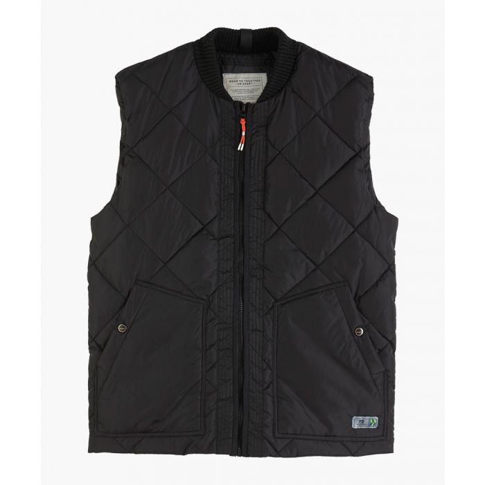 Image for Black quilted gilet