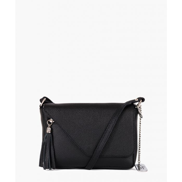 Image for Lola black leather shoulder bag
