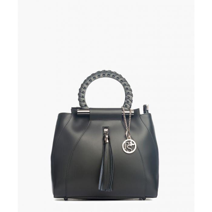 Image for Serra Dolcedorme black leather grab bag