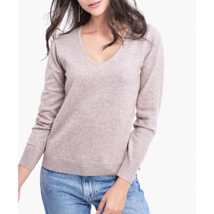 Image for Beige cashmere blend jumper