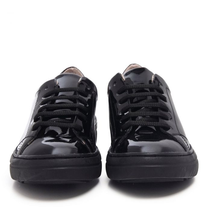Image for Womens black patent leather sneakers