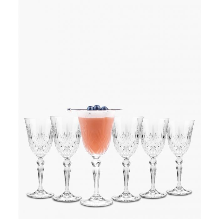 Image for 6pc Melodia Crystal wine glasses set
