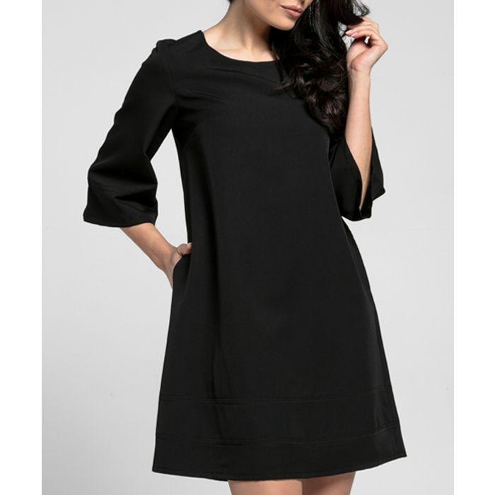 Image for Black a-line knee-length dress