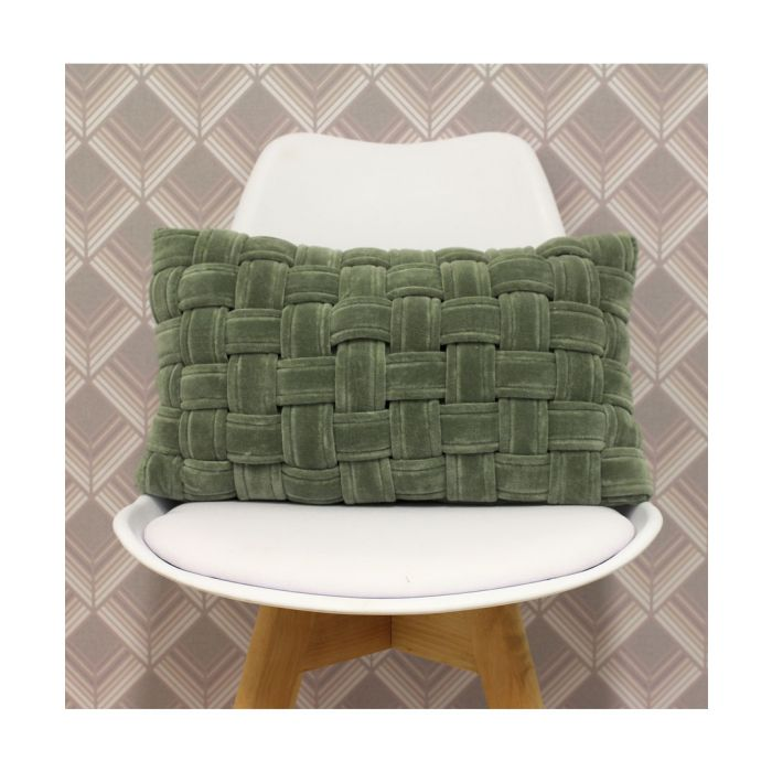 Image for Kross sage cotton weave cushion 50cm