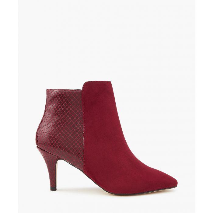 Image for Slinky wine pattern contrast ankle heels