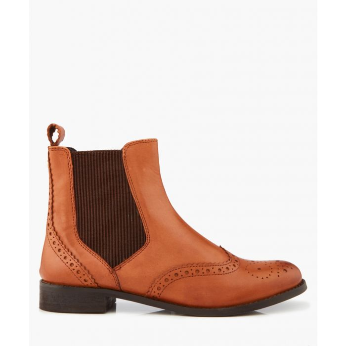 Image for Parks tan brogue ankle boots