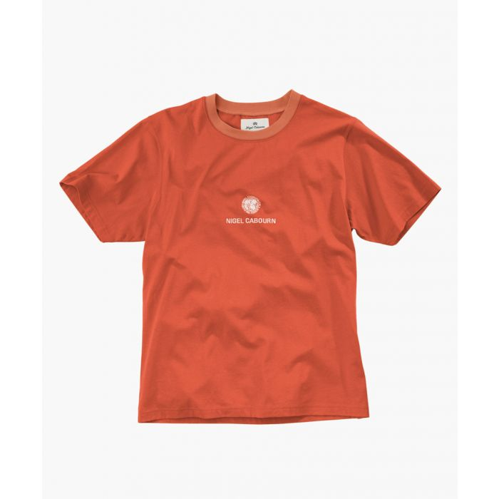 Image for Orange cotton globe print T-shirt