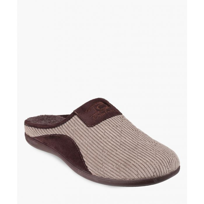 Image for Mens beige slippers