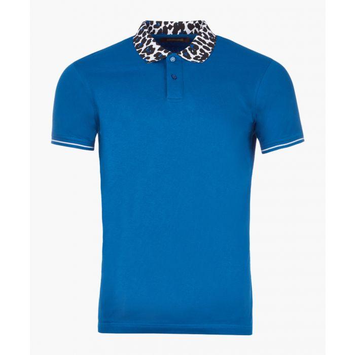 Image for Sax & animal print cotton polo shirt