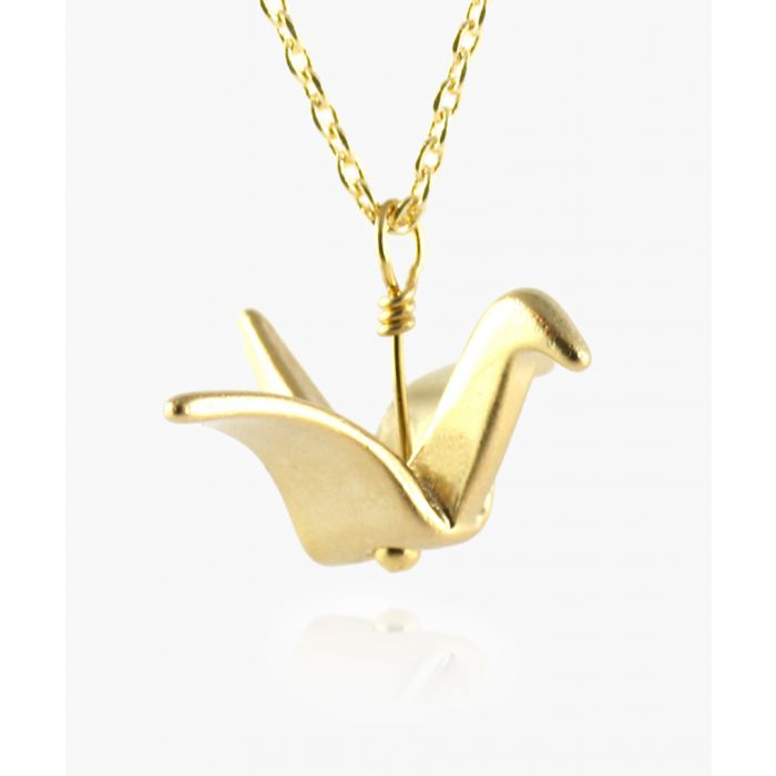 Image for Origami Crane 14k gold-plated necklace