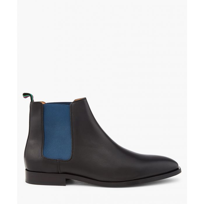 Image for Black leather contrast Chelsea boots