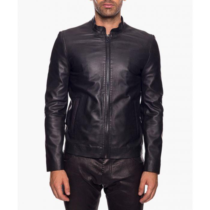 Image for Amyra agora black lambskin jacket