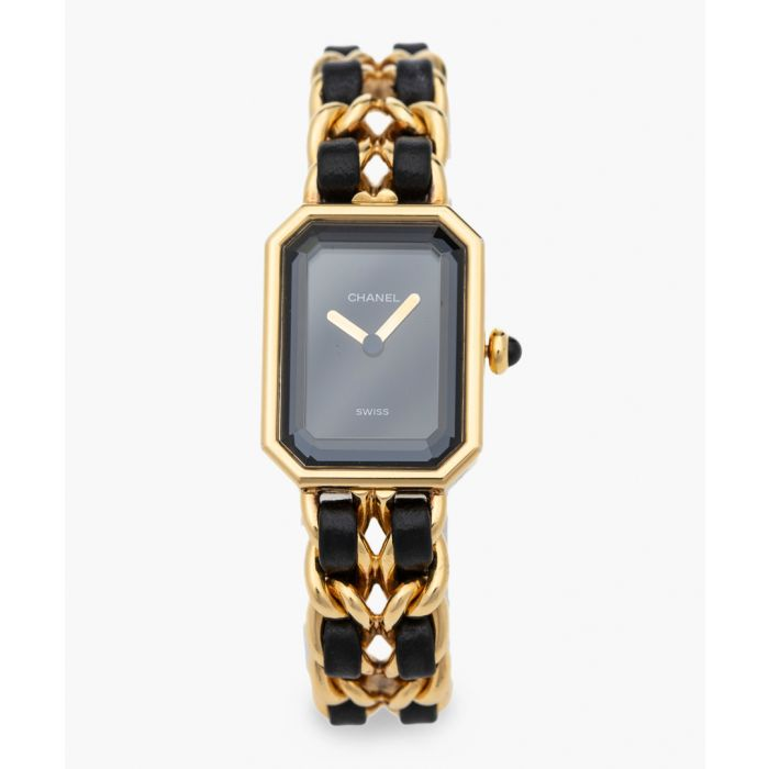 Image for Vintage black and gold-tone watch