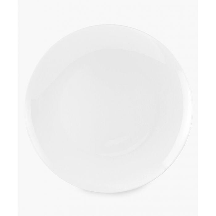 Image for 4pc Serendipity plain white bone china plates 8