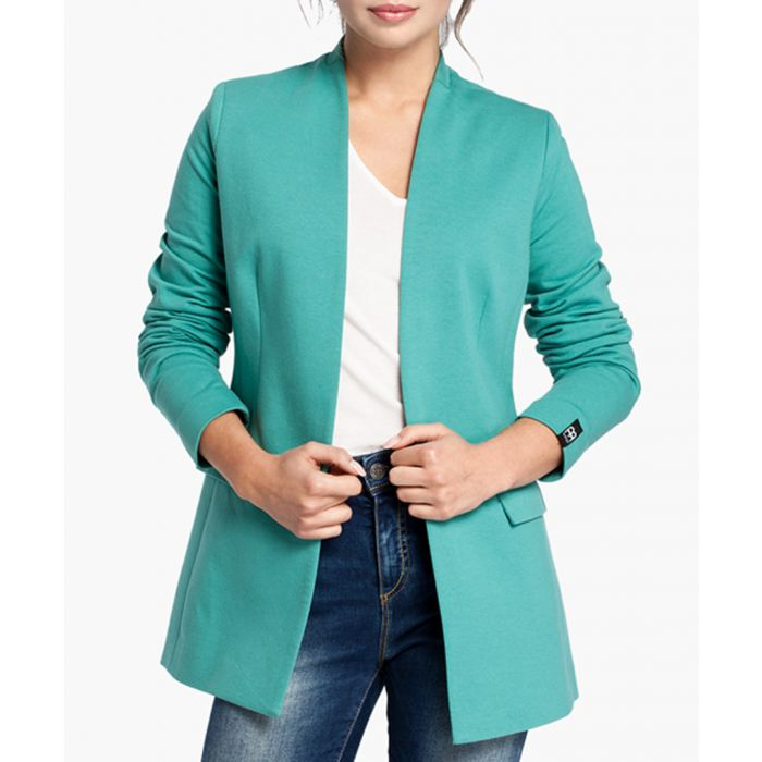 Image for Green Cotton Blend Blazer