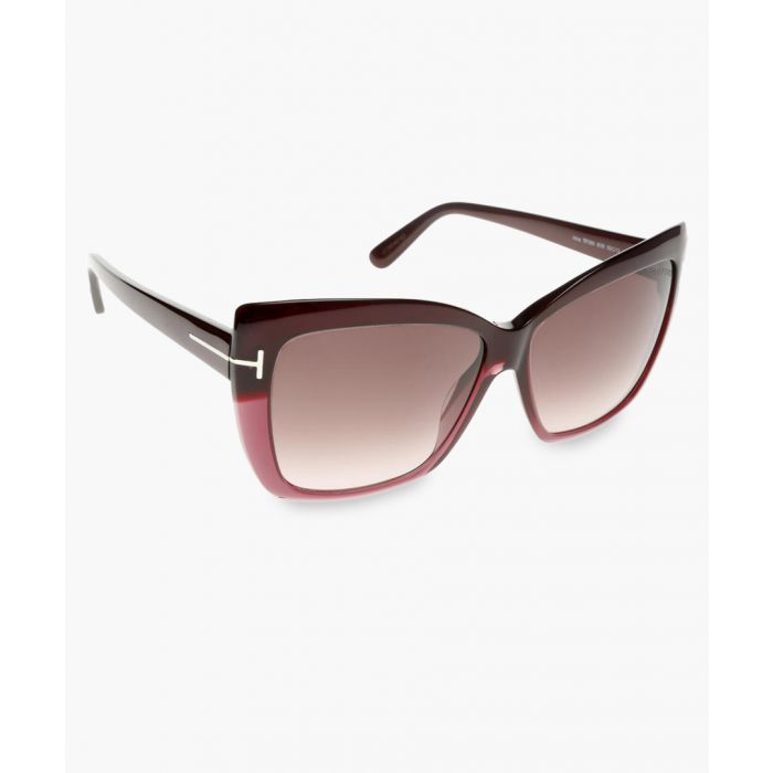 Image for Irina burgundy sunglasses