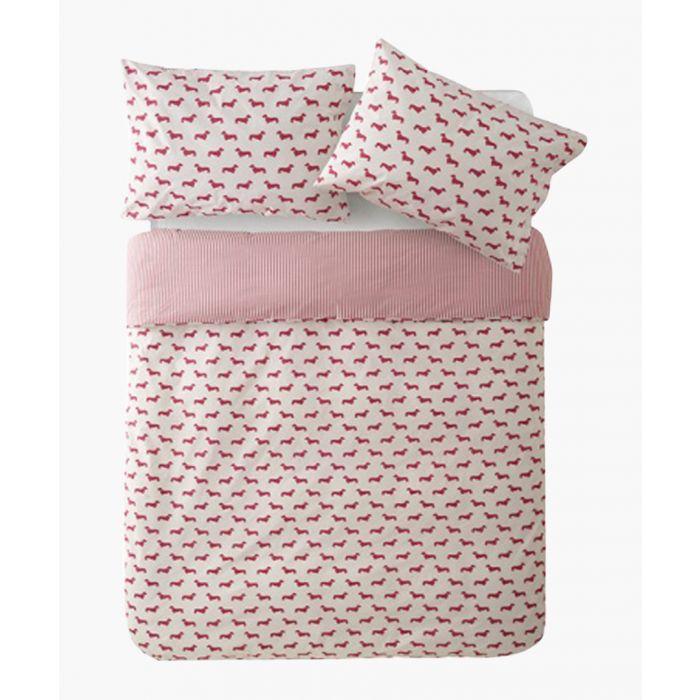 Image for Dachshund pink king duvet set