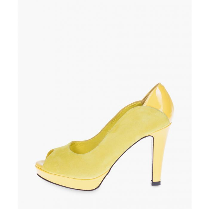 Image for Yellow leather heels