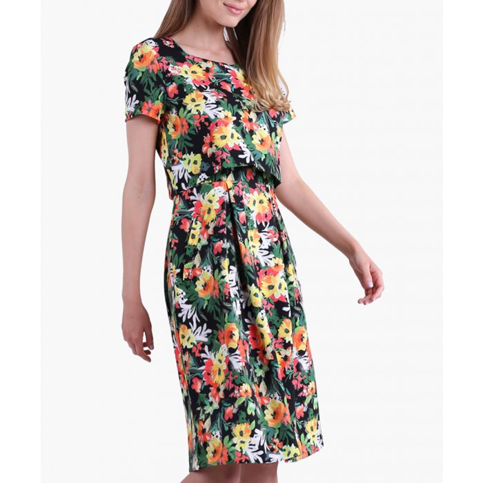 Image for Japan & Flowers Woven Dress