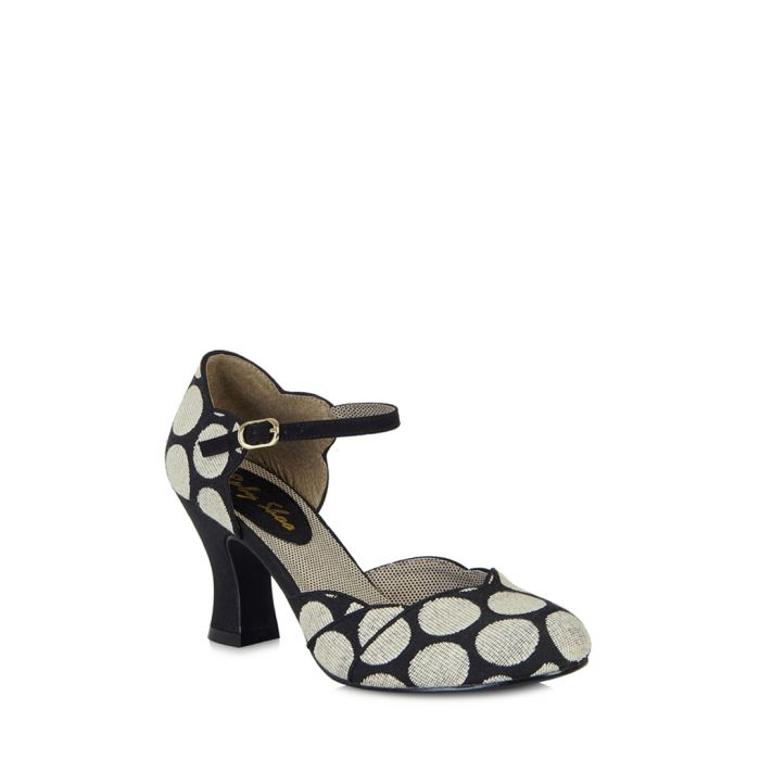 Image for Annabel black spotted low heels