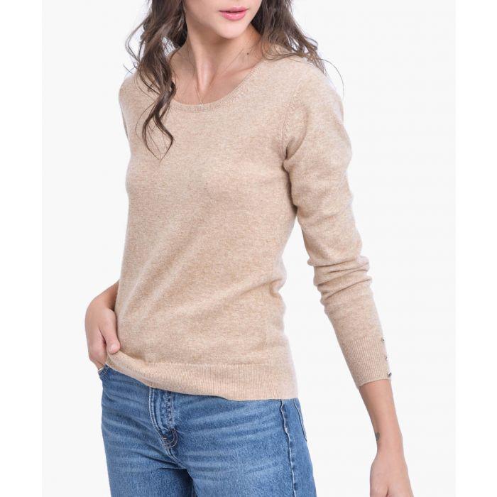 Image for Camel cashmere blend jumper