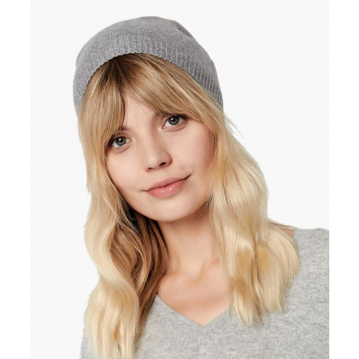 Image for Mid grey pure cashmere hat
