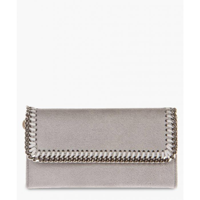 Image for Grey chain fold-over purse